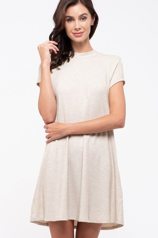 Lindsey Tie Back Dress in Oatmeal