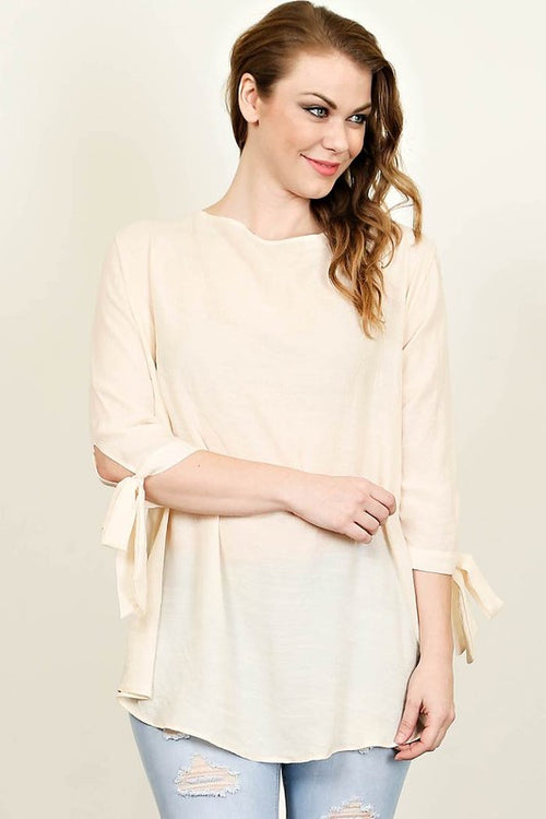 Alessandra Blouse in Ivory