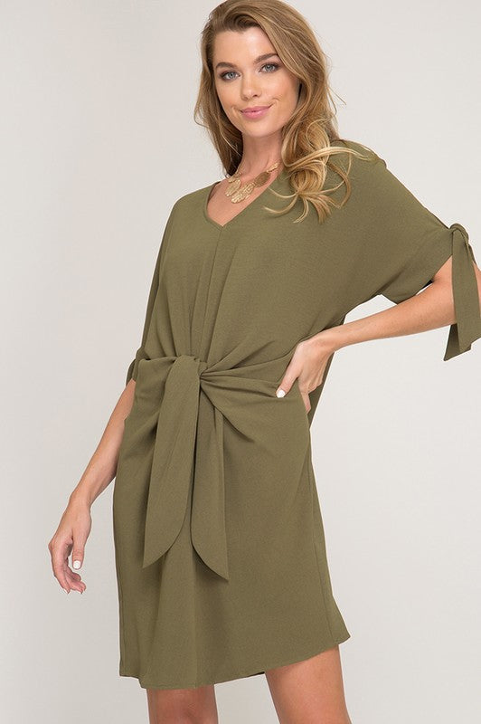 Kayla Dress in Olive