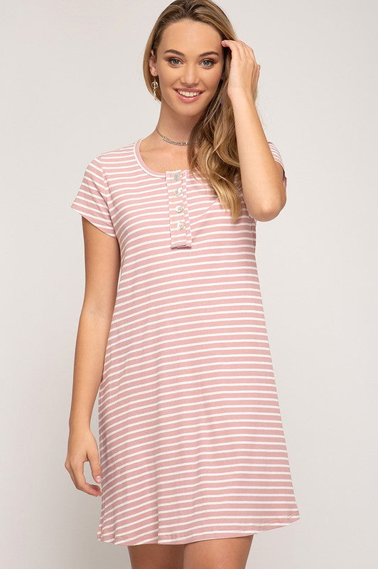 60793762826e Remington Knit Dress in Rose – Spruced Boutique