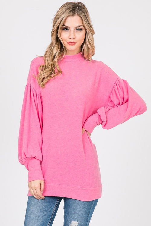Candice Hacci Top in Hot Pink
