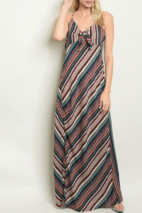 9a8c0f5c86 Kourtney Striped Maxi in Teal – Spruced Boutique