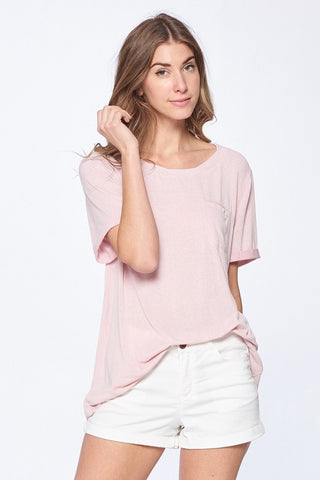 Angelina Knot Front Top in Dusty Rose