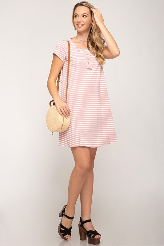 Remington Knit Dress in Rose