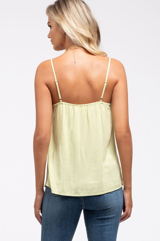 Darby Ruffle Cami in Light Olive