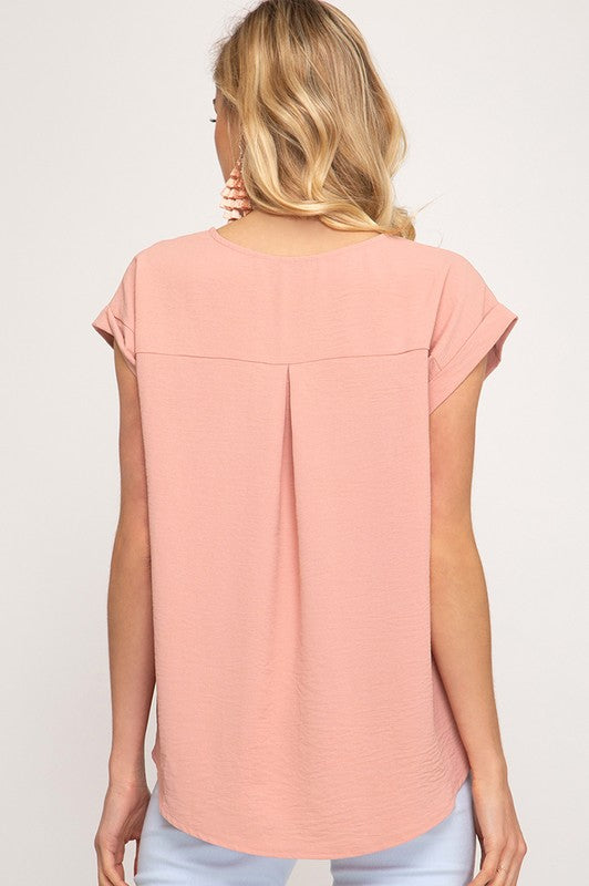 Maren Top in Dusty Peach