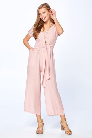 Farah Color Block Maxi in Rose
