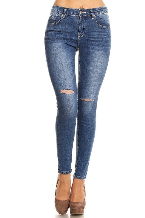 High Rise Jean in Medium Denim
