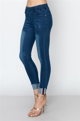 OMG Skinny Ankle Jean in Medium Denim
