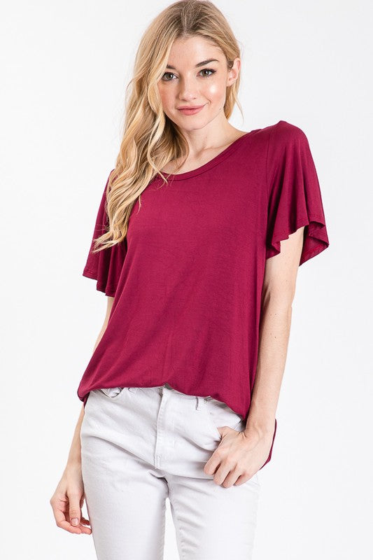 Whitley Top in Burgundy