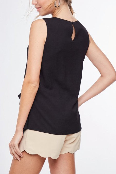 Valerie Twist Front Tank in Black
