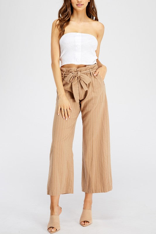 Donna Wide Leg Pants in Taupe