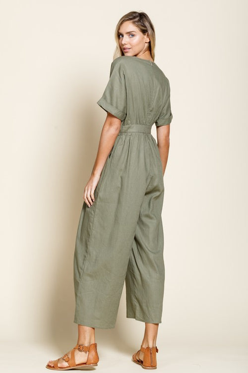 Isla Jumpsuit in Olive