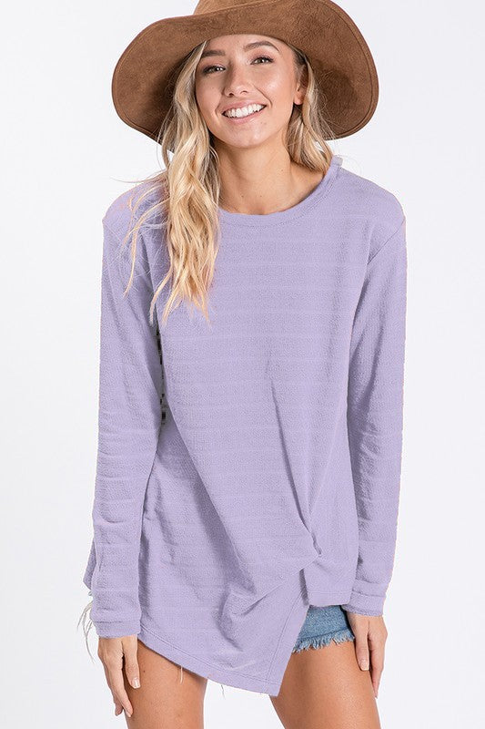 Finley Twist Front Top in Lavender
