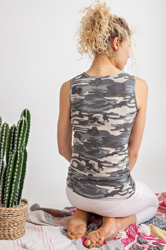 Mia Layering Tank in Camouflage