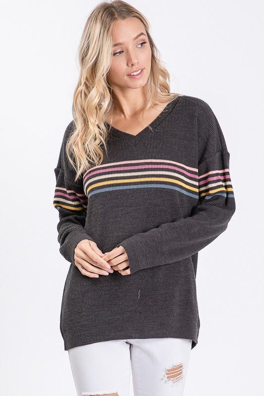 Nadia Sweater in Charcoal