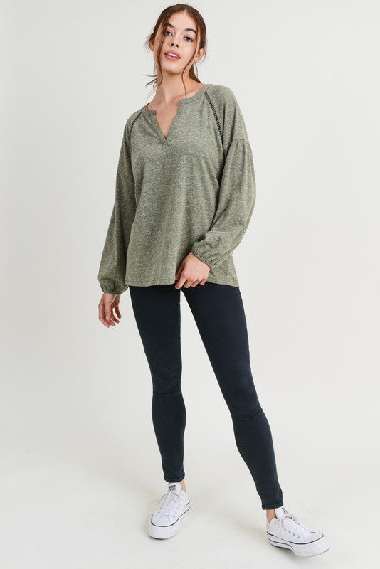 Cheyenne Top in Olive