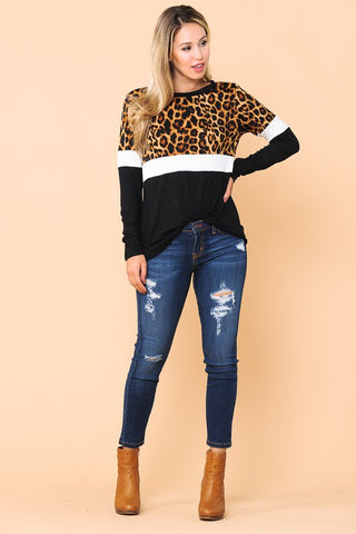 Leopard Lips T-Shirt in Heather Mauve