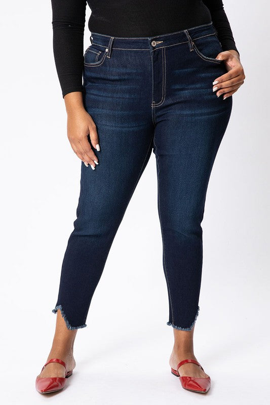 Natalie High-Rise Ankle Jean by KanCan