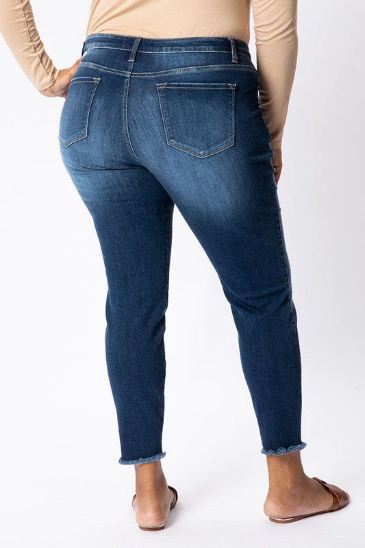Gemma Mid-Rise Ankle Jean by KanCan