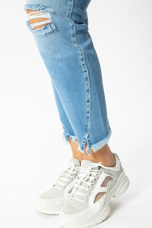 Rosalynn High-Rise Ankle Jean by KanCan