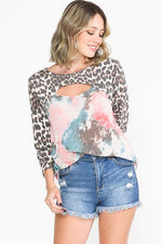 Sienna Leopard and Tie Dye Top
