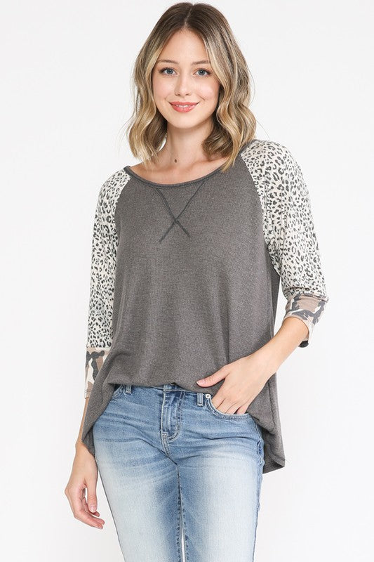Gretchen Top in Charcoal
