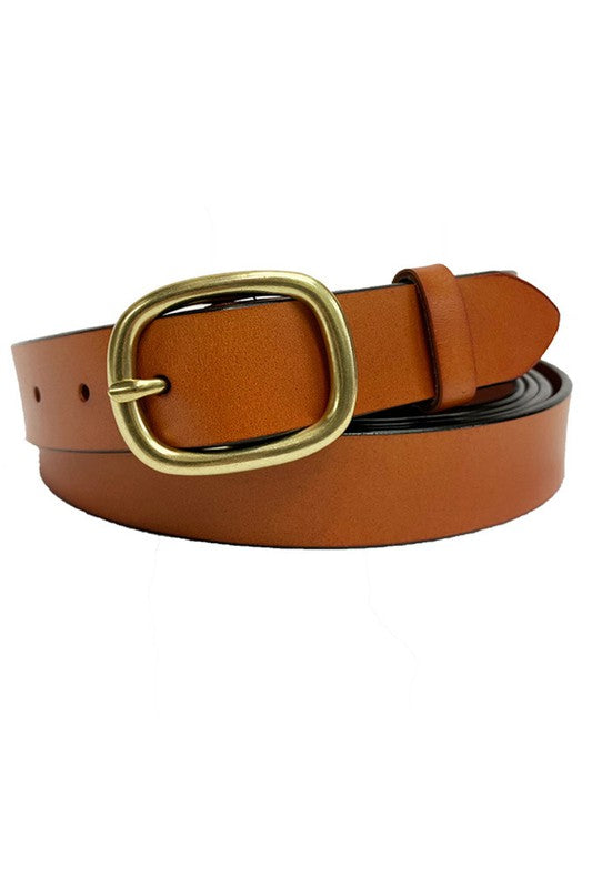 Erica Slim Belt in Camel
