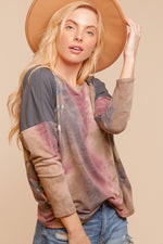 Leslie Camo and Tie Dye Top