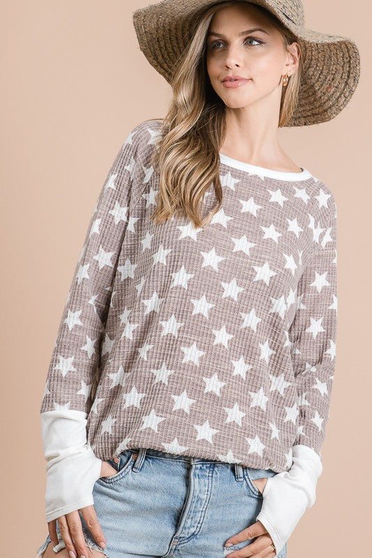 Olivia Star Top in Mocha