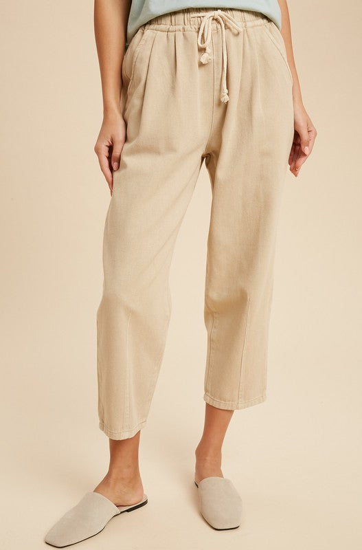 Celia Relaxed Fit Chinos in Khaki
