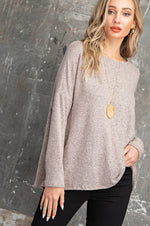 Kirsten Dolman Sleeve Top in Smoky Mauve
