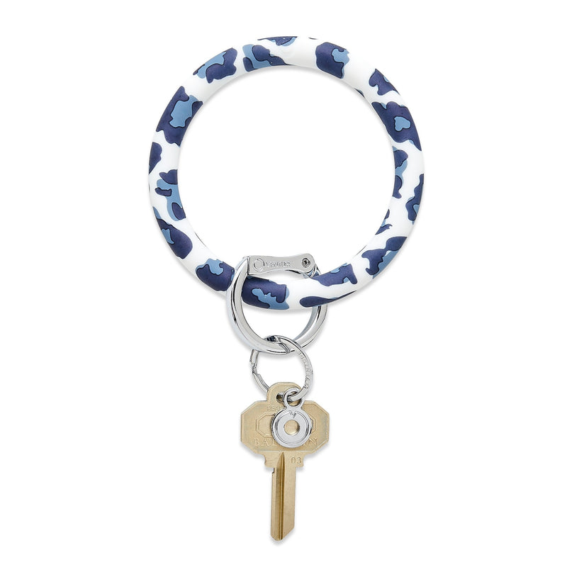 "Oventure Big O® Key Ring in ""Navy Leopard"""