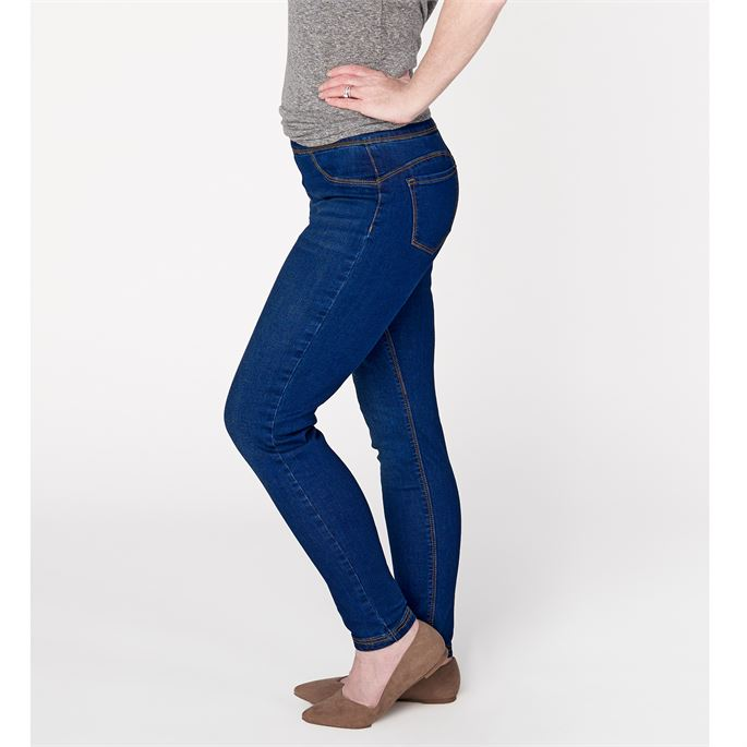 OMG Skinny Ankle Jean in Dark Denim