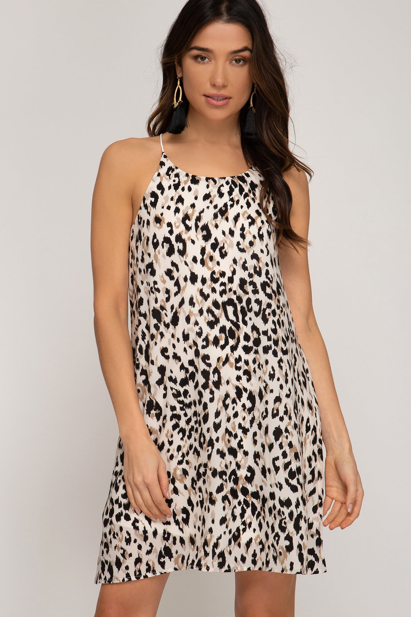 32146149ce Nadia Leopard Print Dress in Cream – Spruced Boutique