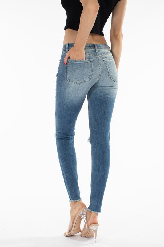 Shelby Mid-Rise Ankle Skinny Jean by KanCan