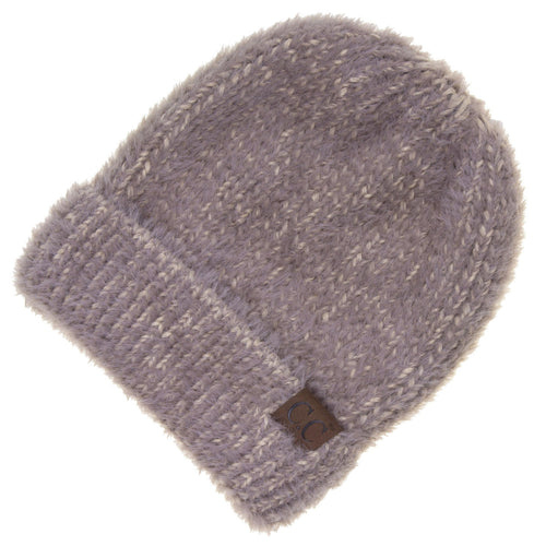 CC Beanie Fuzzy Hat in Taupe