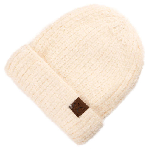 CC Beanie Chenille Hat in Ivory