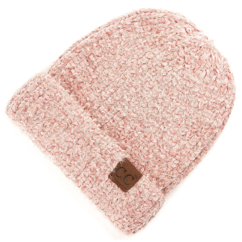 CC Beanie Chenille Hat in Rose