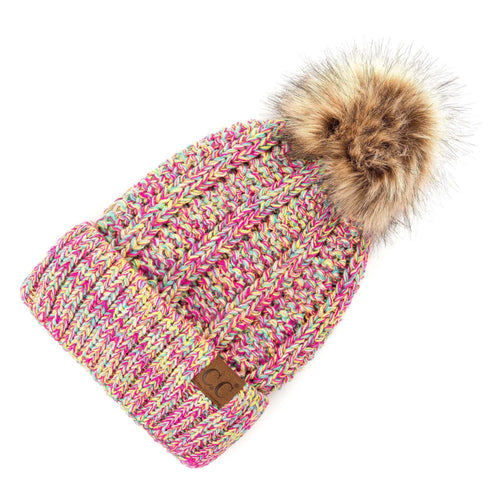 CC Beanie Lined Pom Hat in Summer