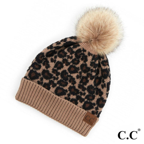 CC Beanie Confetti Ribbed Hat in Oatmeal