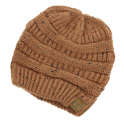 CC Beanie Confetti Ribbed Hat in Rust