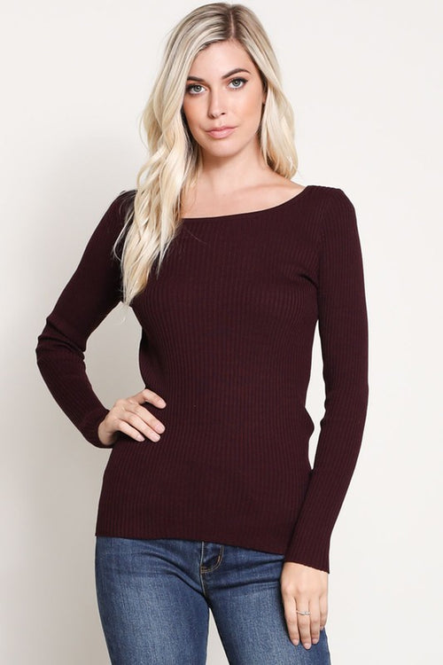 Sienna Top in Eggplant