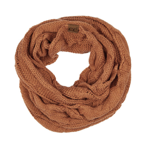 CC Beanie Infinity Scarf in Rust