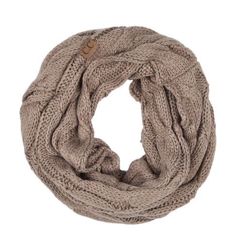 CC Beanie Infinity Scarf in Taupe