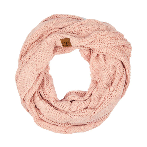CC Beanie Infinity Scarf in Indi Pink