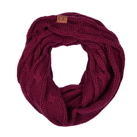 CC Beanie Chenille Ribbed Scarf in Purple