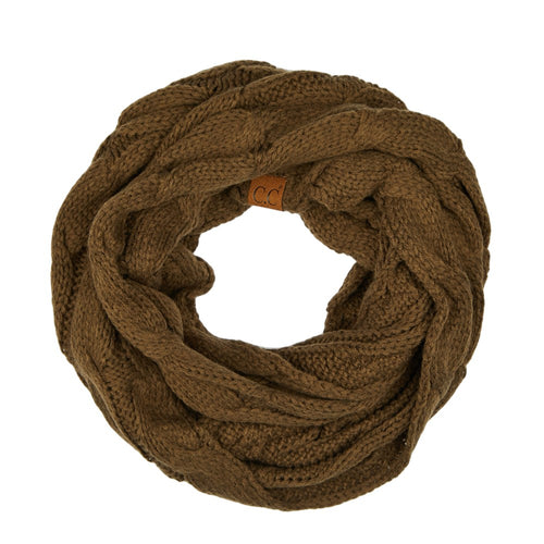 CC Beanie Infinity Scarf in New Olive