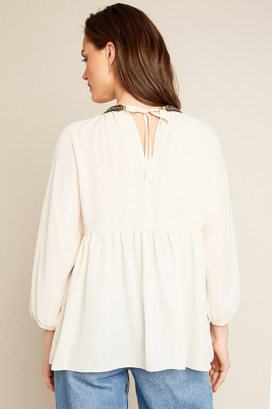 Madison Tunic Top in Champagne