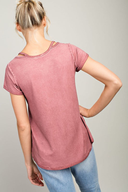 Lola Cut Out Top in Rust